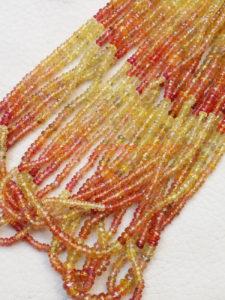 zafiro padparascha en cuentas, Brioletta Joyería Artesanal con gemas