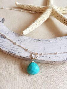 Collar Turquesa, Brioletta Joyería Artesanal con gemas