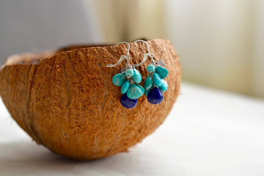 Turquesa y Lapis Lazulli, Brioletta Joyería Artesanal con gemas