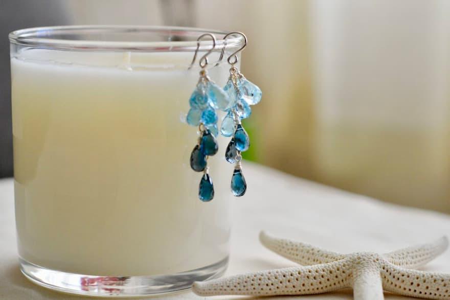 Topacios azules: cielo, Suizo y London, Brioletta Joyería Artesanal con gemas