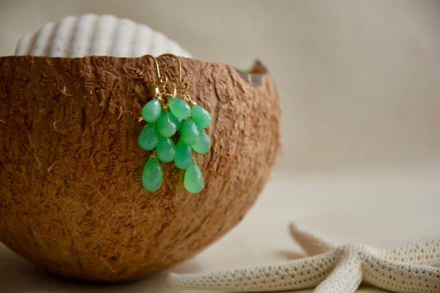 Aretes de Gemas,  Brioletta Joyería Artesanal con gemas