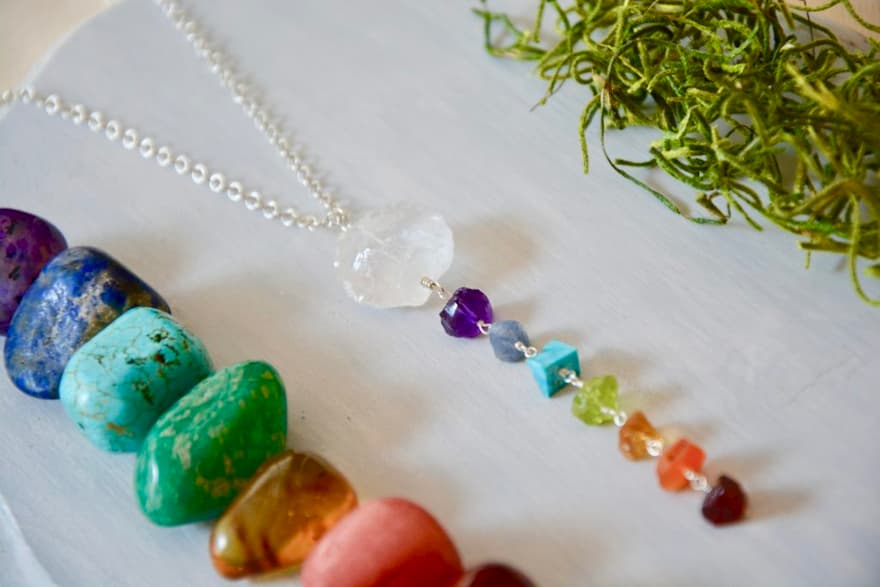 Collar 7 Sagradas,  Brioletta Joyería Artesanal con gemas