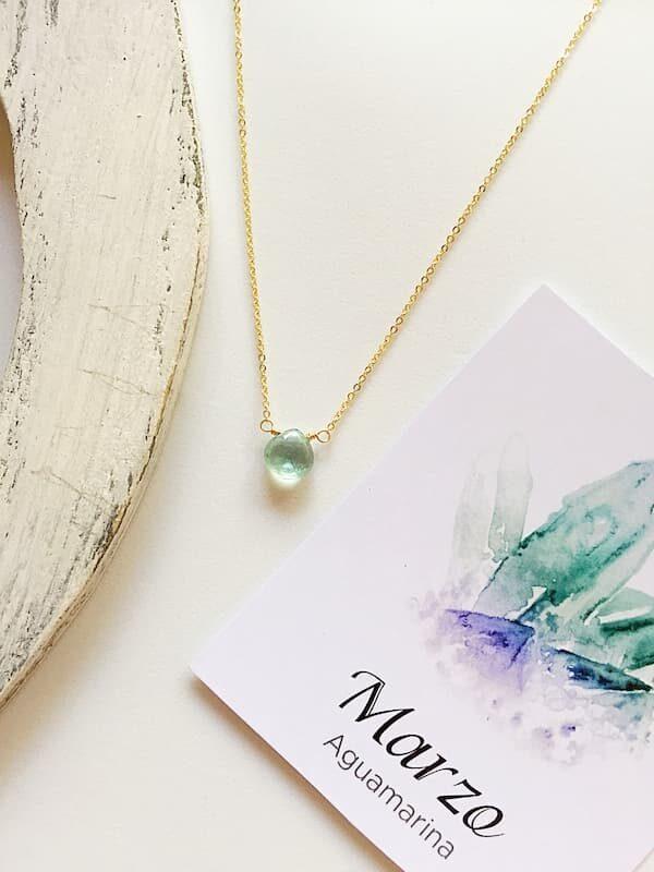 Aguamarina, Brioletta joyería artesanal con gemas